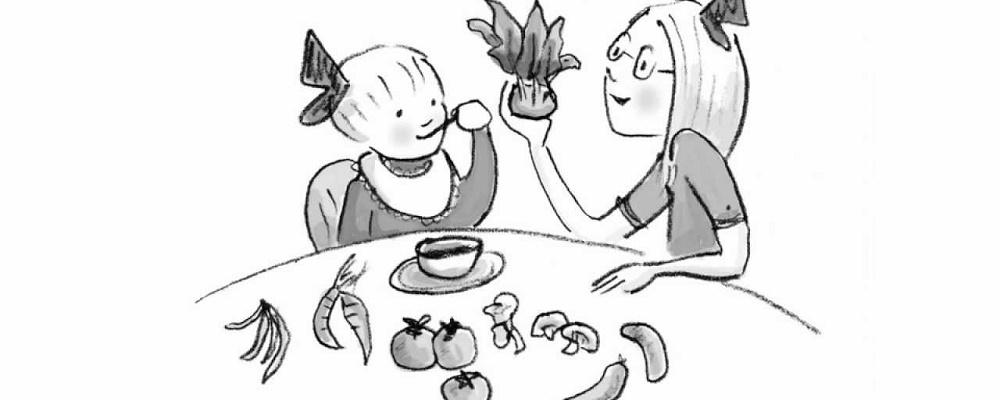 Μαθαίνοντας το παιδί σας να τρώει σωστά